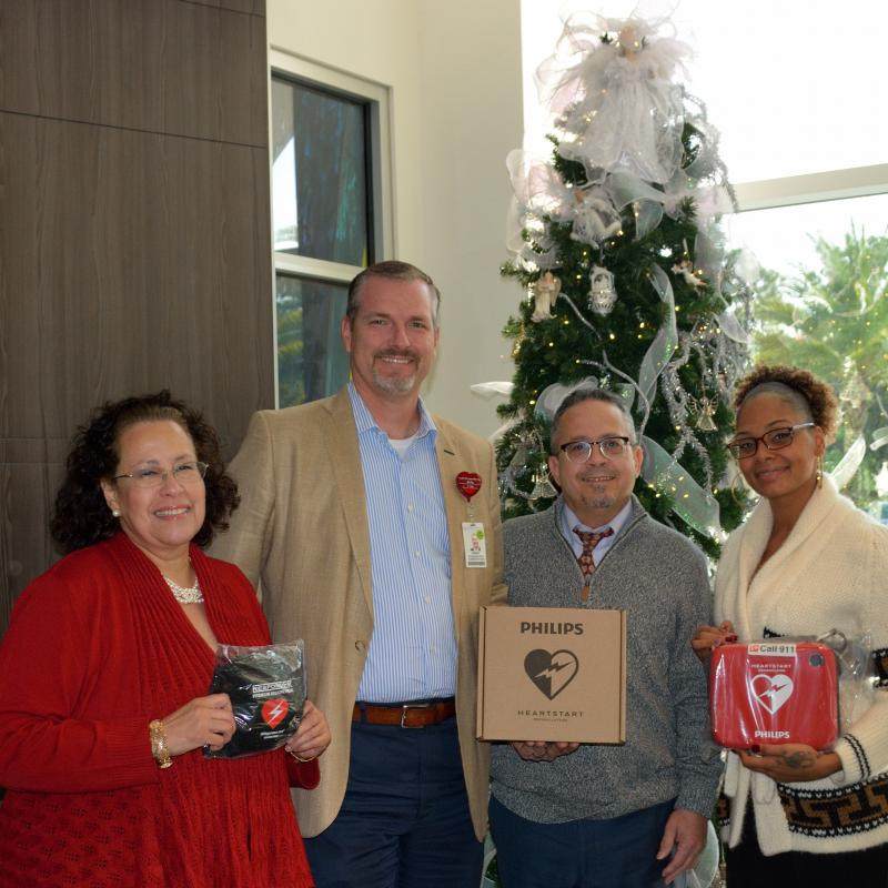 AdventHealth Fish Memorial AED Donation