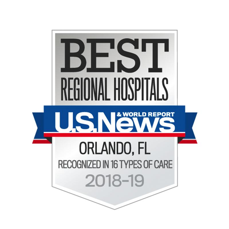 AdventHealth Orlando is the #1 hospital for 2018-2019 in the area, according to US News