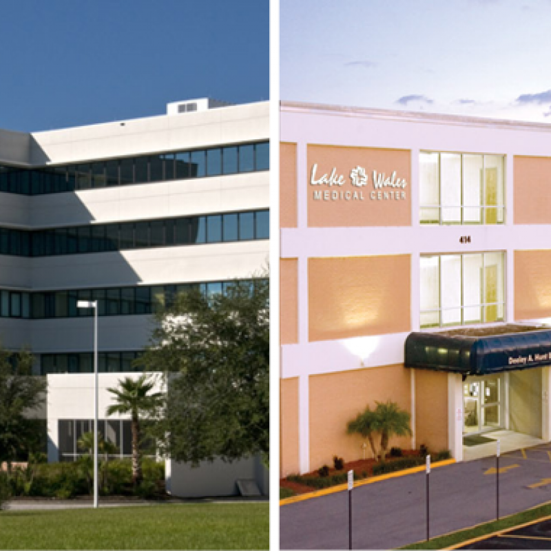The agreements include Heart of Florida Regional Medical Center, Lake Wales Medical Center and related businesses, physician clinic operations and outpatient services.